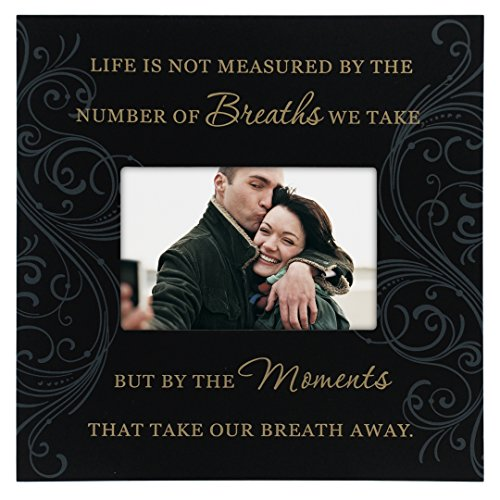 Malden International Designs Moments Life Is Not Measured Wood Picture Frame, 4x6, Black -