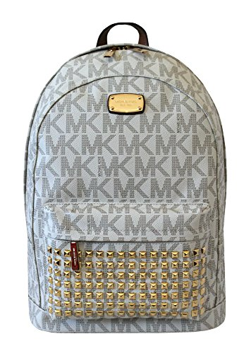 MICHAEL Michael Kors Large PRINTED MK STUDDED Jet Set Item Backpack VANILLA by MICHAEL Michael Kors