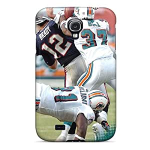IanJoeyPatricia Samsung Galaxy S4 High Quality Hard Cell-phone Cases Support Personal Customs Trendy Miami Dolphins Pattern [KYt16335PQch]