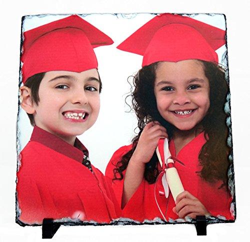 - Civico Custom Photo Slate; Graduation/Anniversary/Memory Plaque-11.8