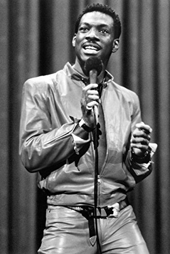 Eddie Murphy Leather Pants and Jacket On Stage 18x24 Poster -