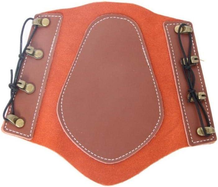 Generir Accesorio De Protección De Protección De Brazo De Tiro con Arco Ajustable De Cuero para Práctica De Caza Brazalete De Correa De Protección-Naranja