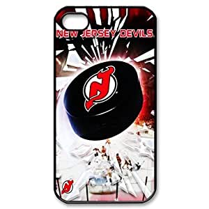 DIY Design Case Cover for Apple iPhone 4 4g 4s Hard Case Cover-New Jersey Devils-01 by mcsharks