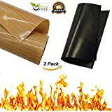 #6: Cabin Wild- Non Stick BBQ Cooking Grilling Mats- Black Plus Copper Set Heavy Duty-Reusable Large Easy Clean- Charcoal, Gas, Oven, Smoker, Electric Grills - Portable, Travel, Camping Outdoors