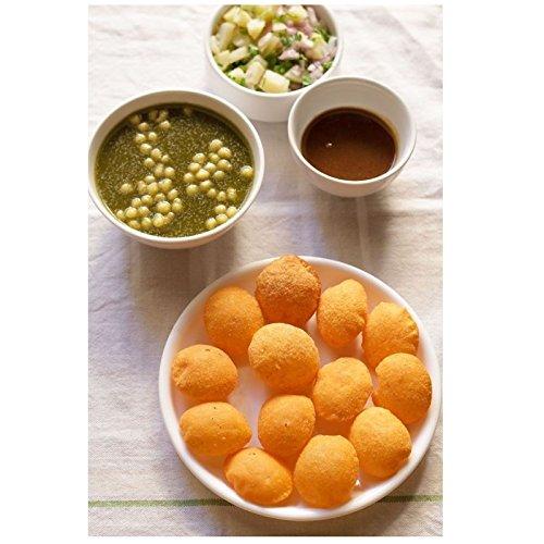 INDIVEDA Combo of Dry Gol Gappa / Pani Puri Imli Chutney Powder + Pudina Pani Powder