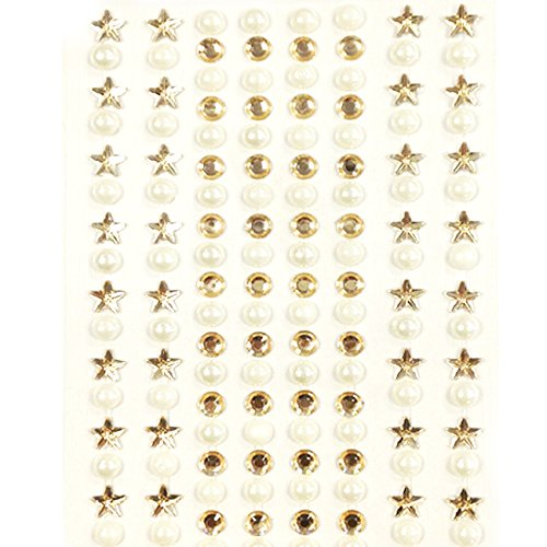 Wrapables 164 Piece Stickers Rhinestones Champagne