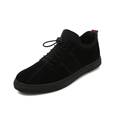 Espadrilles Mens Casual Shoes Lace-up Deck Shoes Low-Top Sneakers Running Shoes (Color : A Size : 41)