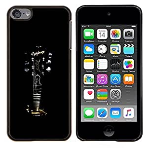 LECELL--Funda protectora / Cubierta / Piel For Apple iPod Touch 6 6th Touch6 -- Epiphone Guitarra --