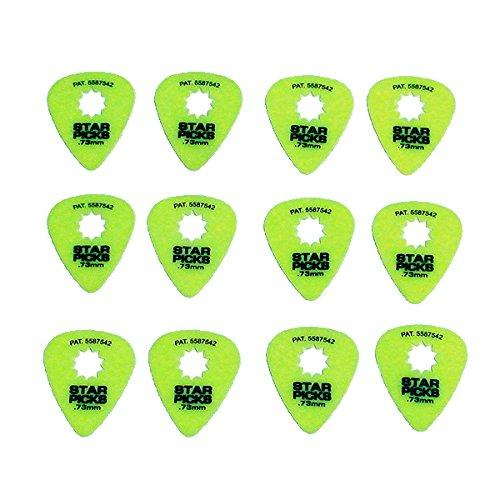 Everly Star Picks 351 Shape Delrin Guitar Picks .73mm 12 Pack Neon -