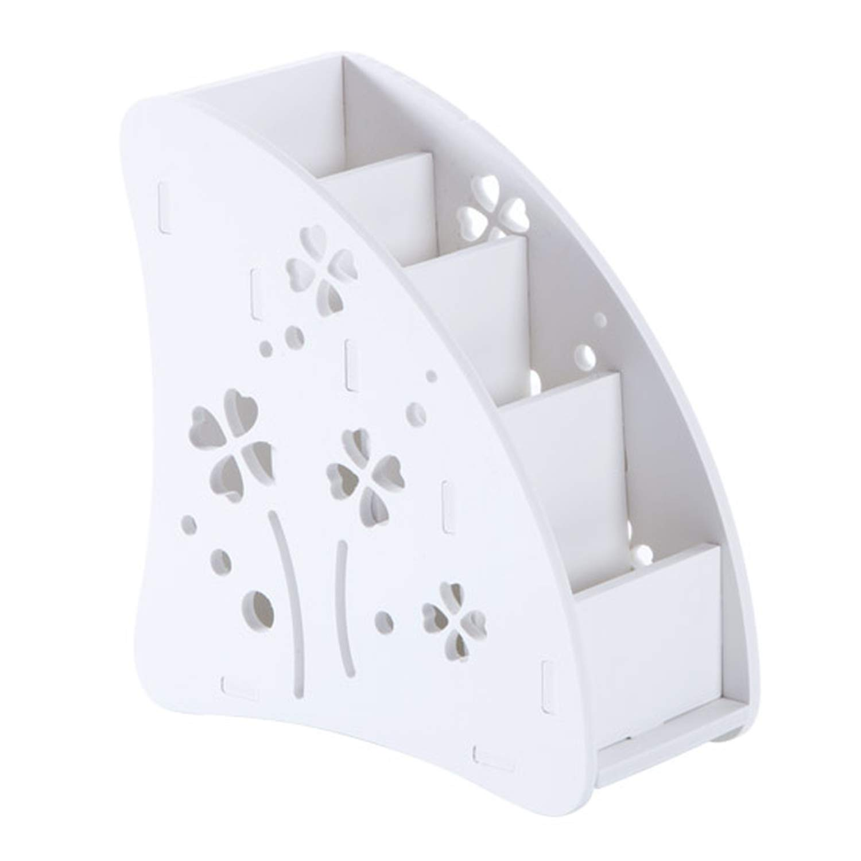 Tianshui Store Plastic Wood Conditioner Remote Control Holder Sundries Storage Case Desk Organizer Box