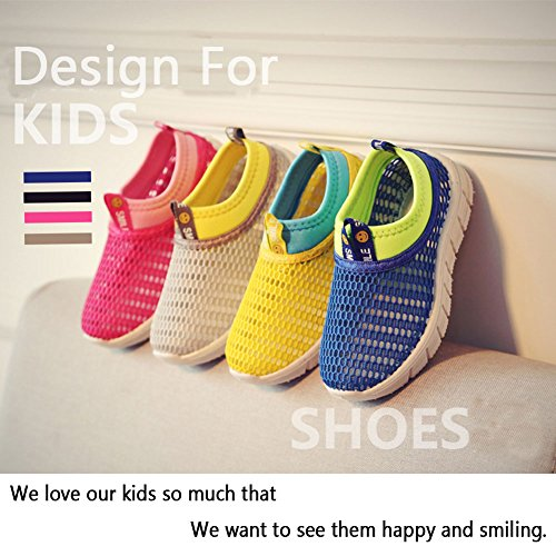 CIOR Kids Breathable Water Shoes Slip-on Sneakers For Running, Pool, Beach, Toddler/Little Kid/Big Kid,sk205yellow,26 6