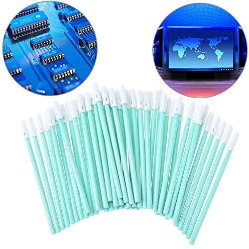 Bestchoice - Total 100 pcs Foam Tip Cleaning Swabs Sponge Stick for Inkjet Printer, Printhead, Camera, Cleanroom, Optical Lens, Detailing