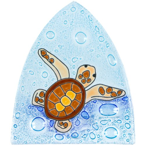 - Animal World - Turtle Baby Swimming in Bubbles Fused Glass Nightlight Cover