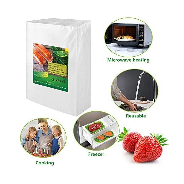 BoxLegend Sacchetti Sottovuoto Alimenti, 100 sacchetti 20x30 cm per la Conservazione Degli Alimenti e Cottura Sottovuoto… 5