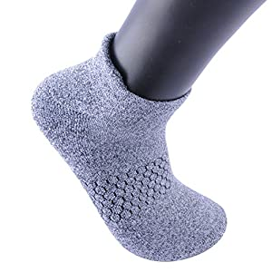 Areke Women Tab Performance Athletic No Show Ankle Socks Cushion Pad for Running Casual Tennis Color 6Pack Dark Grey Size US Shoe Size 5-10