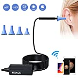 Wireless Otoscope, NIDAGE 1080P Ear Endoscope Ear Inspection Camera Earwax Cleansing Tool Compatible iPhone iPad iOS and Android Smartphone