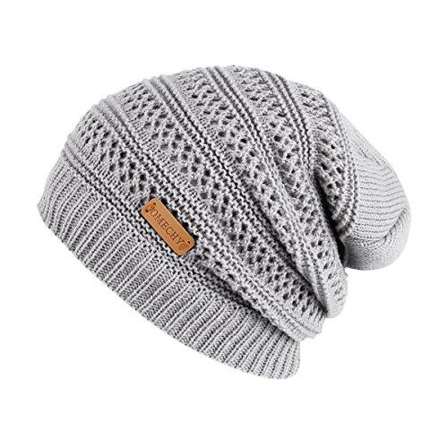 e820fd6a224 OMECHY Slouchy Beanie Hats Unisex Daily Knit Skull Cap Winter Warm Fleece  Soft Baggy Hat Ski