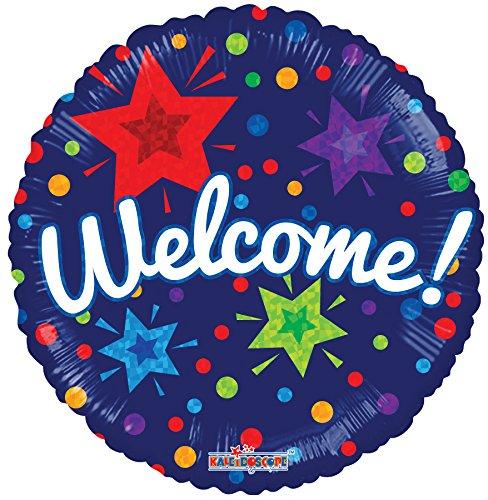 Welcome 18 Inch Mylar Balloon Bulk (5 -