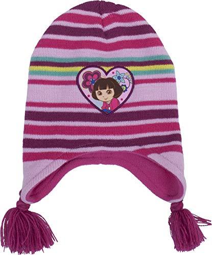 Dora The Explorer Multi Color Striped Knit Hat - Toddler
