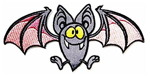Little Bat Halloween Darcula Vampire Wild 5'' x 2.5'' inches Jacket T- shirt Patch Sew Iron on Embroidered Badge Sign (Costum Vampir De Halloween)