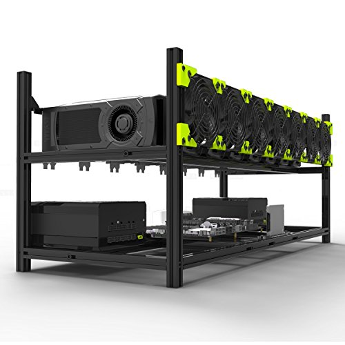 Aluminum GPU Mining Case Rig Open Air Frame For ETH/ETC/ ZCash (8 GPU) by Kyerivs (Image #4)