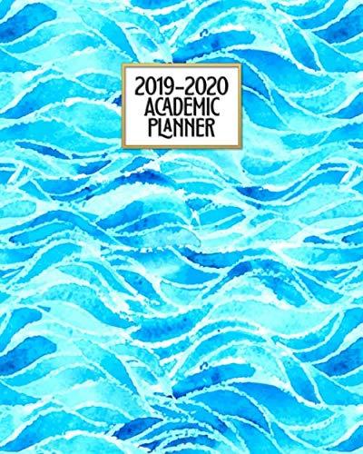 Academic Planner 2019-2020: Ocean Blue Sea Glass   Weekly & Monthly Dated High School Homeschool or College Student 8x10 Academic Planner Organizer ... (2019-2020 School Year Academic Planner)