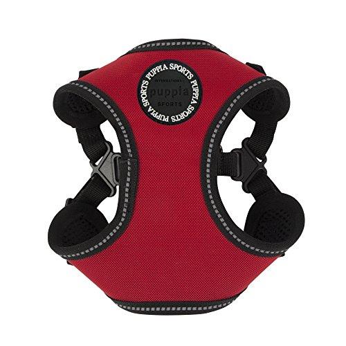 Puppia PLRA-HC9323-RD-XL Red Trek Harness C Pet-Vest-Harnesses, X-Large