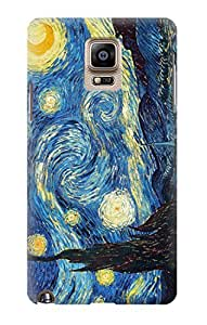 S0213 Van Gogh Starry Nights Case Cover For Samsung Galaxy Note 4