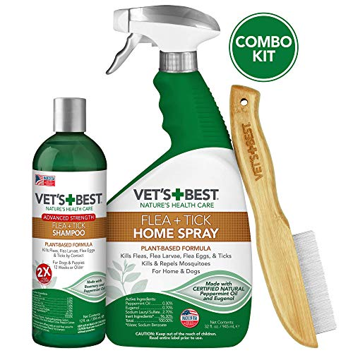 Vet's Best Flea and Tick Treatment Combo Kit | Flea Treatment for Dogs | Flea Killer with Certified Natural Oils (Vet's Best Flea And Tick Spray Ingredients)