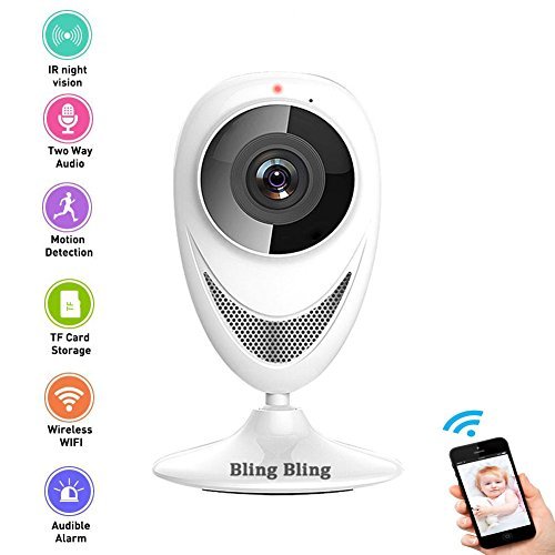 960P Home Camera Indoor Wireless IP Security Surveillance System with Motion Detection and Night Vision for Front Porch Pet House Office and Nanny Baby Monitor (960P)