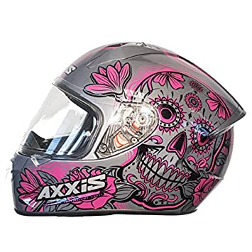 Casco Axxis STINGER DAYDEAD Rosa Mexican skull calaveras mexicanas (XS)