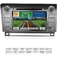 Aimtom 2007-13 Toyota Tundra 2008-14 Sequoia Indash GPS Navigation Car Stereo 7 Touch Screen Bluetooth AV Receiver USB SD Radio DVD CD Head Unit Infotainment System w/ Copyrighted iGo Primo Maps