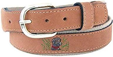 Zep-Pro Belt Embroidered Labrador Retriever Leather Belt