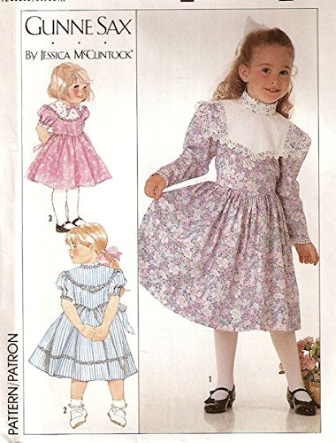 Simplicity vintage 1980s sewing pattern 9438 Gunne Sax dress - Child size 3-4-5-6 -