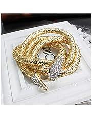 Necklace Vintage Necklace Personalized Vintage Necklace Snake-Shaped Diamond Punk Style Long