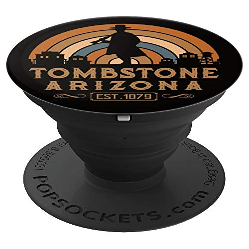 Tombstone Arizona AZ Retro Style Wild West Gift - PopSockets Grip and Stand for Phones and Tablets