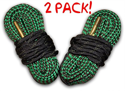 243 Caliber Cobra Bore Snake Pack Of 2 - Cleans Your Rifle Barrel Quick And Easy - Washable In Minutes Ships From The USA
