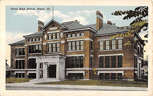 Dixon Illinois High School Exterior Street View Antique Postcard K15736