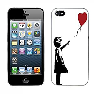 Banksy cas adapte iphone 5 couverture coque rigide de protection (3) case pour la apple i phone Art