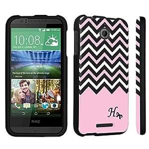 DuroCase ? HTC Desire 510 Hard Case Black - (Black Pink White Chevron H)
