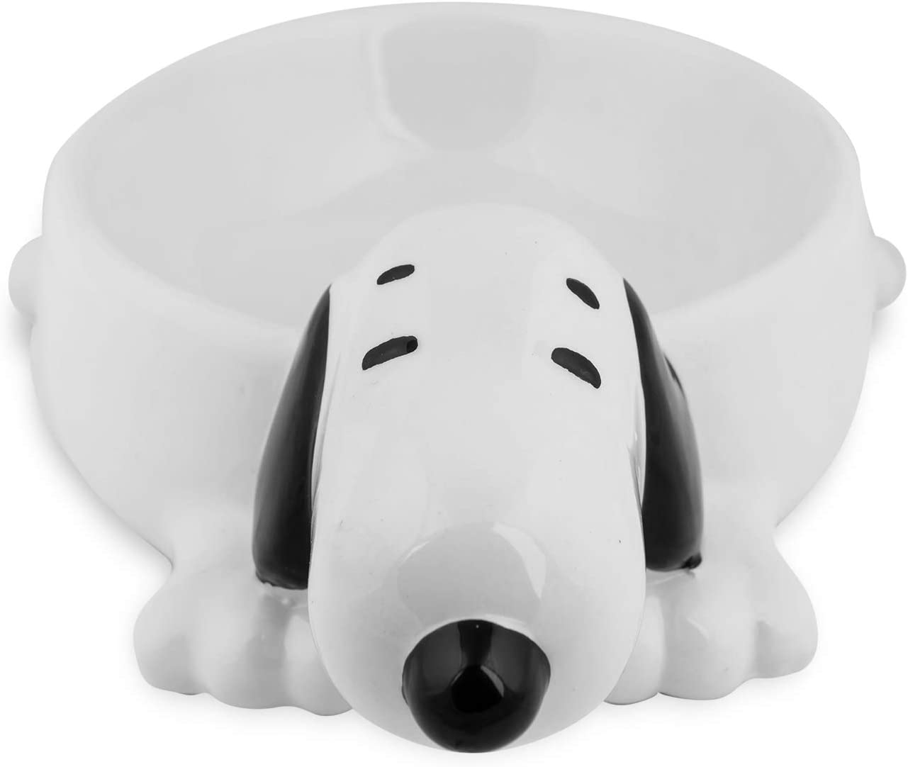 ZOOZ PETS Snoopy 3D Ceramic Dog Bowl for Food & Water- No Spill Dog Water Bowl and Food Bowls and Exclusive Snoopy Design Weighted Dog Bowl - Cat Bowls Ceramic