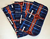 1 Ply Printed Flannel Washable-Bears-Set Napkins 8x8 inches 5 Pack - Little Wipes (R) Flannel