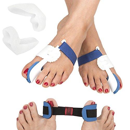 FeetFix Bunion Corrector Toe Splint Kit – 5 Piece Set for Hallux Valgus and...