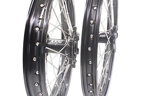 KKE HONDA MX CNC Wheel 21/19 CRF450R 02-12 CRF250R 04-13 Black Hub by KKE (Image #3)