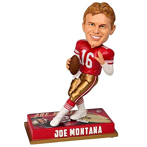 Forever Collectibles NFL San Francisco 49Ers Mens San Francisco 49ers Bobblehead - 8 - Retired Player - Joe Montana #16 - Special Order, Team Colors One Size from Forever Collectibles