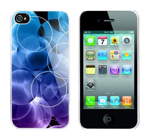 Iphone 4 Case Blue Bubbles Rahmen weiss