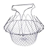 Foldable Steam Rinse Strain futuristic Cosy Fry Chef Basket Strainer Kitchen Cooking Tool