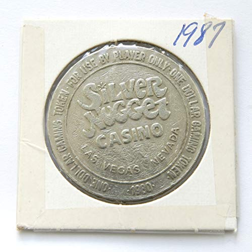 - 1980 Silver Nugget Casino, Las Vegas, Nevada One Dollar Gaming Token (Obsolete Design) $1 Used