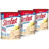 SlimFast – Original Meal Replacement Shake Mix Powder – Weight Loss Shake – 10g of Protein – 24 Vitamins and Minerals Per Serving – Great Taste – 12.83 oz. – Pack of 3 - French Vanilla