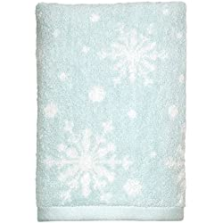 """Peri Home Snowflakes Holiday 100% Cotton Hand Towel, 15"""" x 26"""", Blue"""
